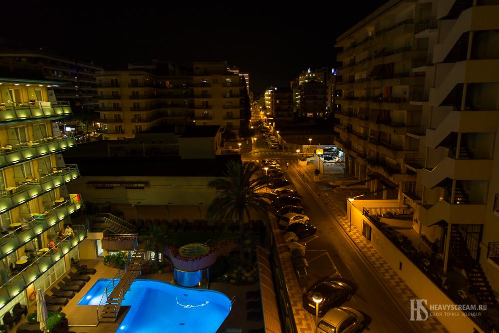 Вид из отеля «Kaktus Playa». Калеллья, Испания.