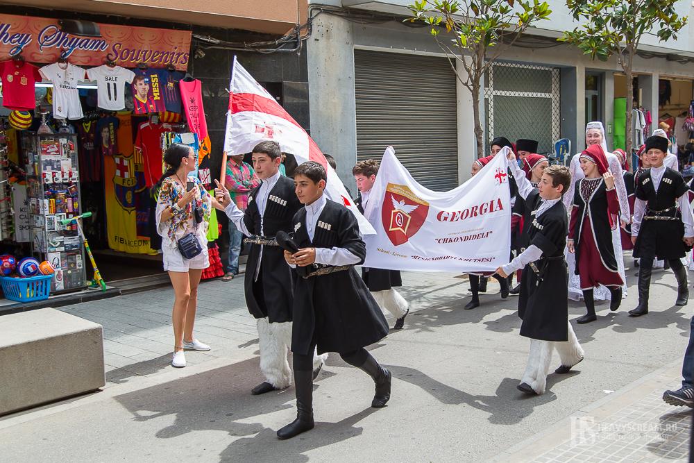 Фестиваль De folklore Alegria. Грузия.