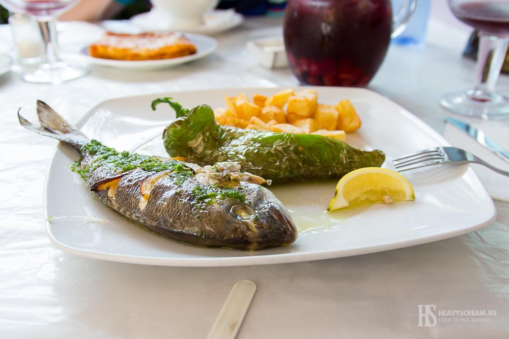 Блюдо в ресторане Blau, Калелья, Испания