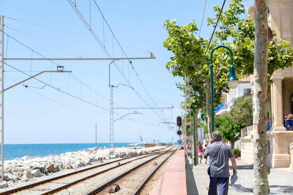 Sant Pol de Mar. Станция.