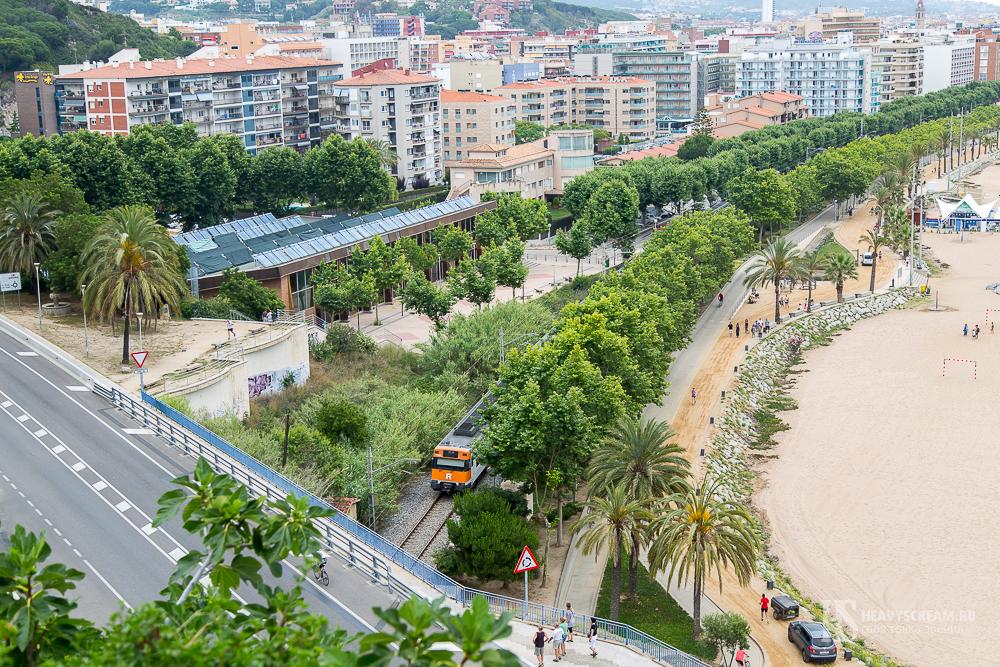Калеллья (Calella, Spain). Общий вид на город.