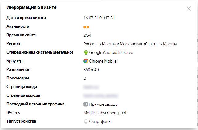 Яндекс.Метрика: вебвизор